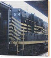 Trains Wood Print