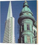 Dueling Architecture In San Francisco Wood Print