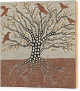 tree of Life Wood Print by Sophy White