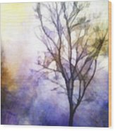 Tree On Vine Wood Print