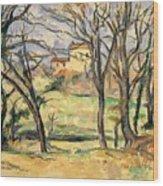 Trees And Houses Near The Jas De Bouffan Wood Print