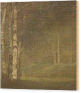 Trees In The Forest Wood Print