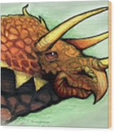 Triceratops Wood Print