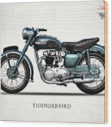 Triumph Thunderbird 1955 Wood Print