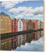 Trondheim Coastal View Wood Print