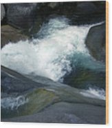 Tropical Flowing Waters Josephine Falls  Wood Print