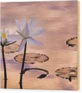 Tropical Lily Wood Print