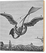 Trouv�s Ornithopter Wood Print by Granger