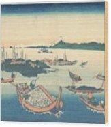 Tsukudajima In Musashi Province Wood Print