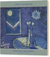 Tulips By Moonlight - Blue Notes Version Wood Print
