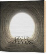 Tunnel Text And Shadow Concept Wood Print