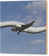 Turkish Delight Airlines Airbus A321 Wood Print