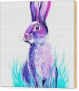 Turquoise And The Hare  Wood Print
