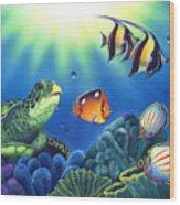 Turtle Dreams Wood Print