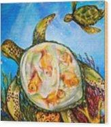 Turtle Tank Wood Print