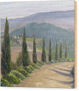 Tuscany Road Wood Print