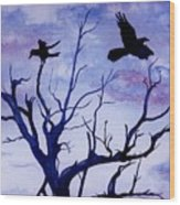 Twilight Flight Wood Print