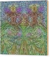 Twin Fairies Wood Print