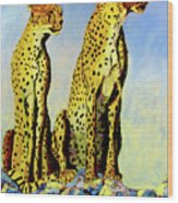 Two Cheetahs Wood Print
