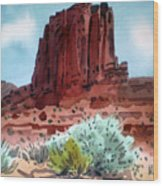 Two Elephants Butte Wood Print
