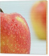 Two Red Gala Apples Wood Print