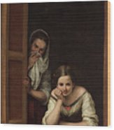 Two Women At A Window Wood Print