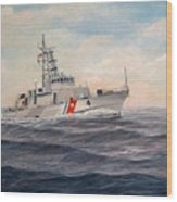 U. S. Coast Guard Cutter Monsoon Wood Print