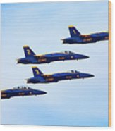 U S Navy Blue Angeles, Formation Flying Wood Print