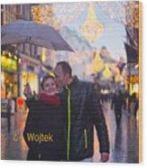 Ula And Wojtek Engagement 12 Wood Print
