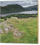 Ullswater Lake From Gowbarrow Fell, Lake District Wood Print