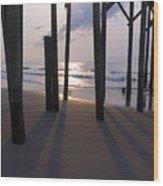 Under Pier Wood Print