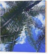 Under The Palms Wood Print
