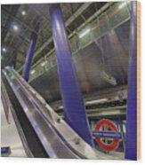 Underground Escalator Wood Print