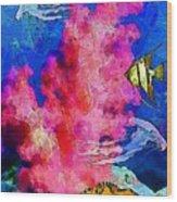 Underwater. Coral Reef. Wood Print