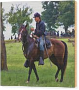 Union Cavalryman Wood Print