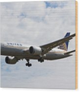 United Airlines Boeing 787 Wood Print