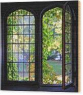 University Windows Wood Print