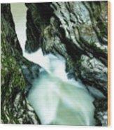 Up The Down Waterfall Wood Print