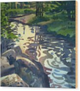 Up With The Fishes Wood Print