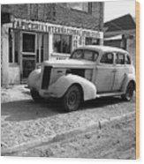 Upholstery Shop Dental Clinic 1930's Auto Us Mexico Border Naco Sonora Mexico 1980 Wood Print
