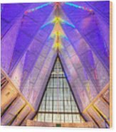 Us Air Force Academy Chapel Wood Print