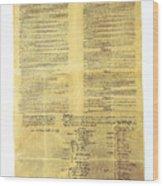 U.s Constitution Wood Print