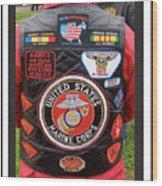 Us Marine Corps Viet Nam Veteran Peart Park Casa Grande Arizona 2005 Wood Print