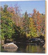 Usa, New York, Adirondack State Park Wood Print