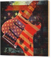 Usa Strat Guitar Music Wood Print