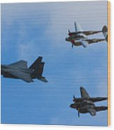 Usaf Heritage Flight Wood Print