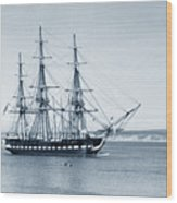 Uss Constitution Old Ironsides In Monterey Bay Oct. 1933 Wood Print