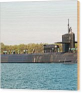 Uss Ohio Wood Print