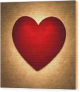 Valentine Heart Wood Print