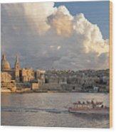Valetta Skyline, Malta. Wood Print